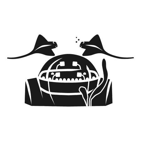 Oceanarium icon. Simple illustration of oceanarium vector icon for web design isolated on white background Ilustração
