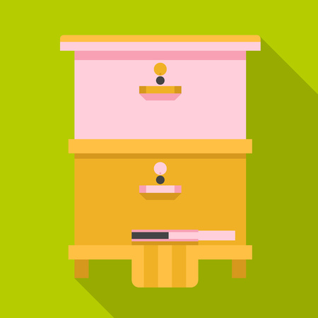 Home beehive icon. Flat illustration of home beehive vector icon for web design Zdjęcie Seryjne - 125312560
