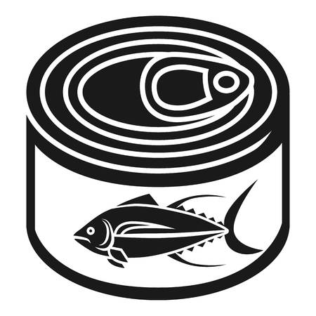Tuna tin can icon. Simple illustration of tuna tin can vector icon for web design isolated on white background
