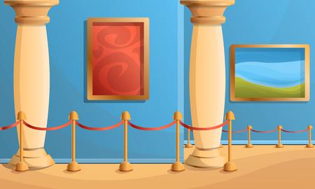 Museum pillar concept banner. Cartoon illustration of museum pillar vector concept banner for web design