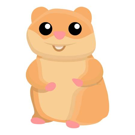 Smile hamster icon. Cartoon of smile hamster vector icon for web design isolated on white background  イラスト・ベクター素材