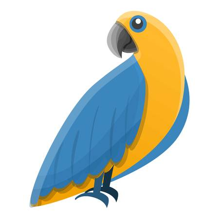 Tropical parrot icon. Cartoon of tropical parrot vector icon for web design isolated on white background