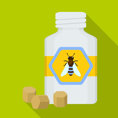 Propolis pills icon. Flat illustration of propolis pills vector icon for web design