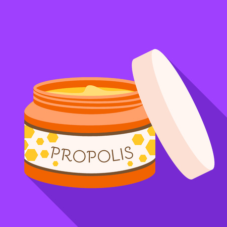 Propolis face cream icon. Flat illustration of propolis face cream vector icon for web design Illusztráció