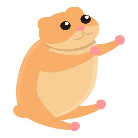 Hamster want hug icon. Cartoon of hamster want hug vector icon for web design isolated on white background
