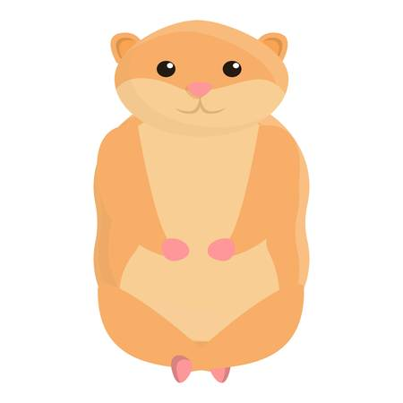 Hamster meditation icon. Cartoon of hamster meditation vector icon for web design isolated on white background