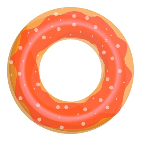 Donut swim ring icon. Cartoon of donut swim ring vector icon for web design isolated on white background