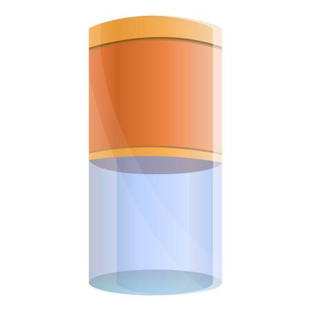 Filter water tube icon. Cartoon of filter water tube vector icon for web design isolated on white background Ilustração