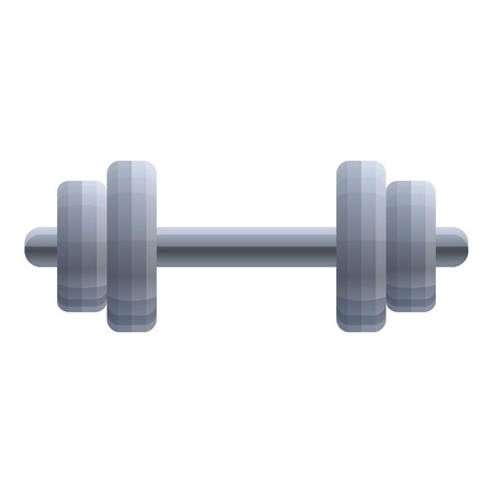 Heavy dumbell icon. Cartoon of heavy dumbell vector icon for web design isolated on white background