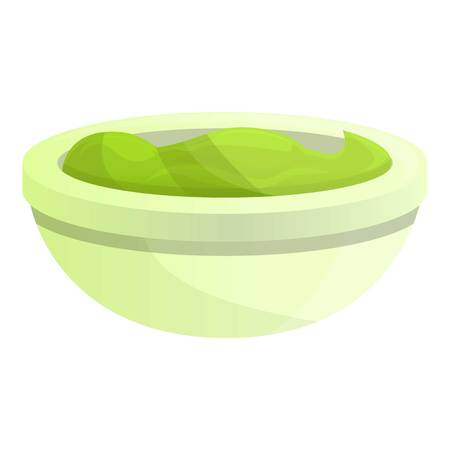 Green mexican sauce icon. Cartoon of green mexican sauce vector icon for web design isolated on white background