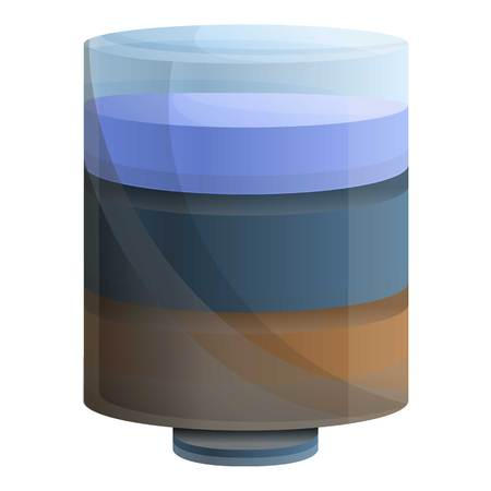 Layer of filter cartridge icon. Cartoon of layer of filter cartridge vector icon for web design isolated on white background