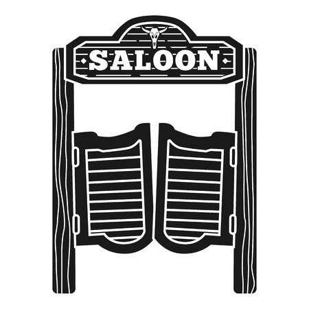 Welcome to saloon icon. Simple illustration of welcome to saloon vector icon for web design isolated on white background  イラスト・ベクター素材