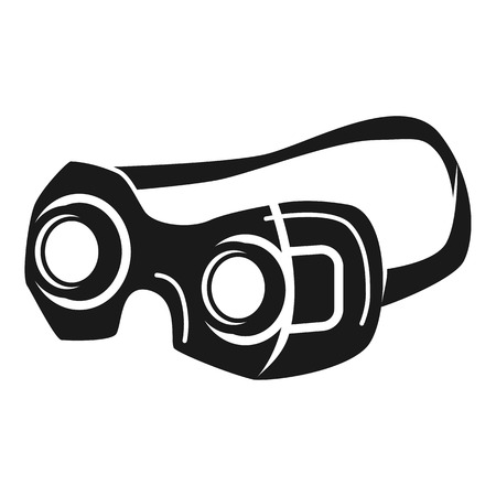 Zoom glasses icon. Simple illustration of zoom glasses vector icon for web design isolated on white background