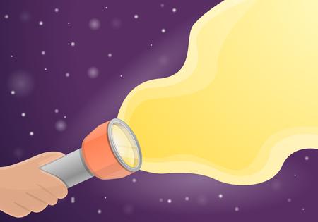 Fondo del concepto de linterna. Ilustración de dibujos animados de fondo de concepto de vector de linterna para diseño web