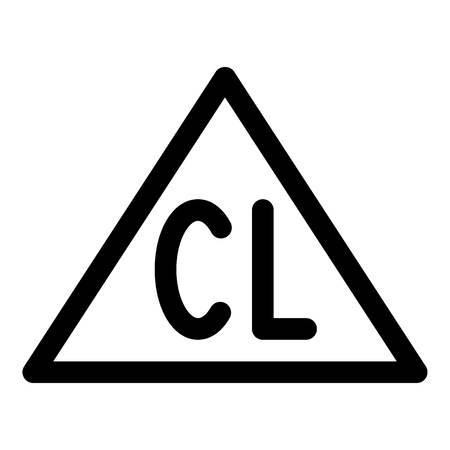 Chlorine bleach icon. Outline chlorine bleach vector icon for web design isolated on white background Ilustração