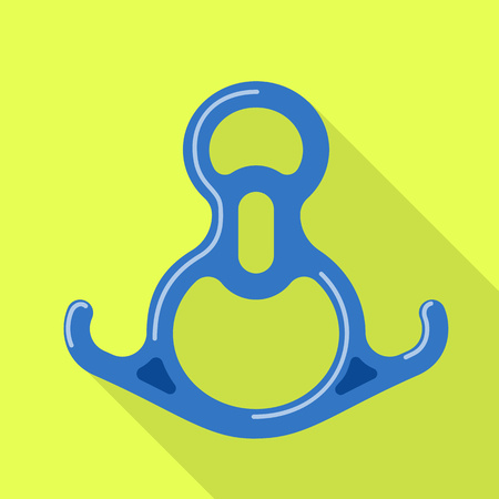 Hiking connect tool icon. Flat illustration of hiking connect tool vector icon for web design