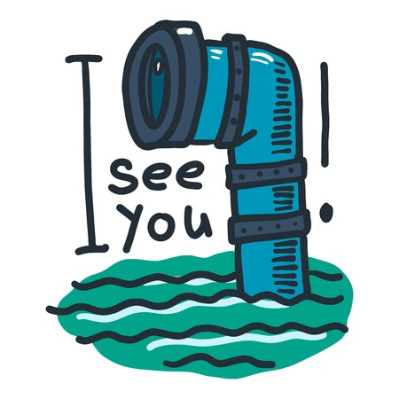 See you periscope icon. Hand drawn illustration of see you periscope vector icon for web design