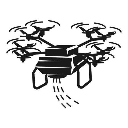 Drone sower icon. Simple illustration of drone sower vector icon for web design isolated on white background Illustration