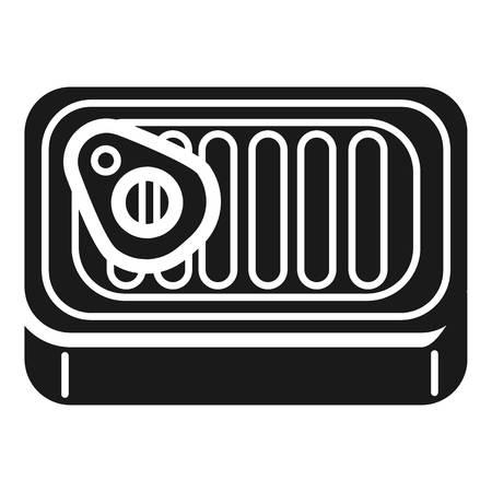 Aluminum pate can icon. Simple illustration of aluminum pate can vector icon for web design isolated on white background Ilustração