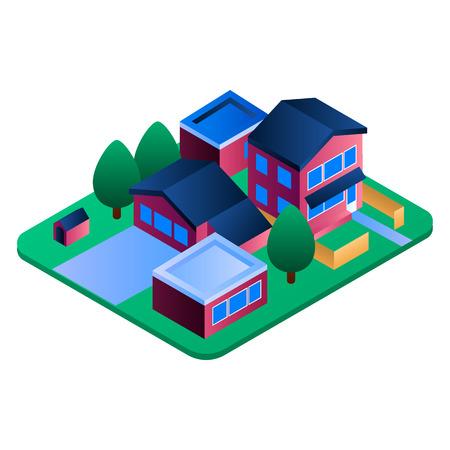 Eco residence region icon. Isometric of eco residence region vector icon for web design isolated on white background Ilustração
