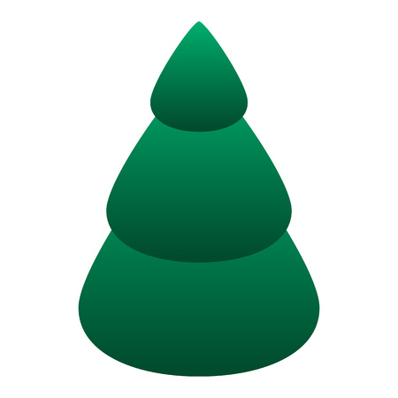 Fir tree icon. Isometric of fir tree vector icon for web design isolated on white background