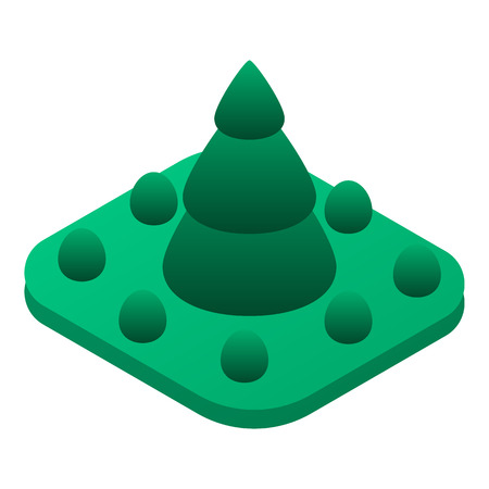 Fir tree park icon. Isometric of fir tree park vector icon for web design isolated on white background