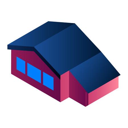 City house icon. Isometric of city house vector icon for web design isolated on white background Ilustração