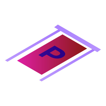 Parking place icon. Isometric of parking place vector icon for web design isolated on white background Illustration