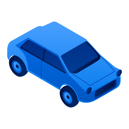 City car icon. Isometric of city car vector icon for web design isolated on white background Illustration