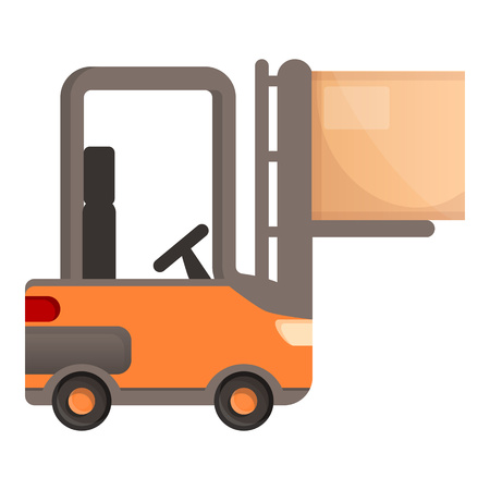 Warehouse forklift icon. Cartoon of warehouse forklift vector icon for web design isolated on white background