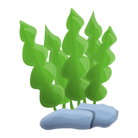 Aquarium leaf plant icon. Cartoon of aquarium leaf plant vector icon for web design isolated on white background