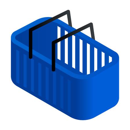 Laundry basket icon. Isometric of laundry basket vector icon for web design isolated on white background Ilustração