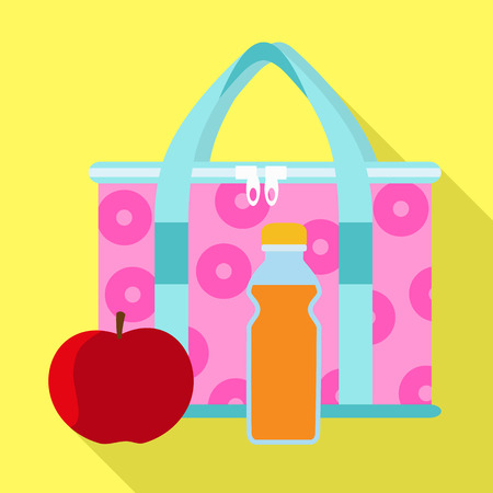 Lunch bag icon. Flat illustration of lunch bag vector icon for web design