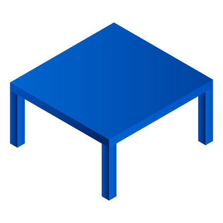 Laundry blue table icon. Isometric of laundry blue table vector icon for web design isolated on white background