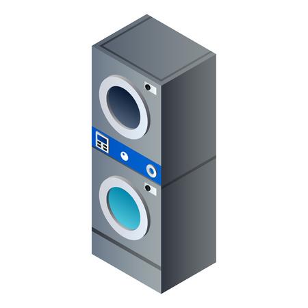 Wash machine column icon. Isometric of wash machine column vector icon for web design isolated on white background Illustration