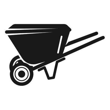 Garden wheelbarrow icon. Simple illustration of garden wheelbarrow vector icon for web design isolated on white background