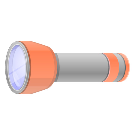 Home flashlight icon. Cartoon of home flashlight vector icon for web design isolated on white background Zdjęcie Seryjne - 124966071