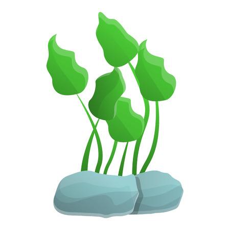 Aquarium leaf icon. Cartoon of aquarium leaf vector icon for web design isolated on white background