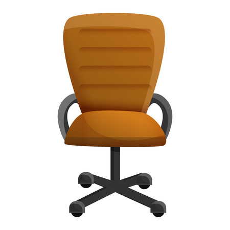 Desk chair icon. Cartoon of desk chair vector icon for web design isolated on white background Zdjęcie Seryjne - 124966081