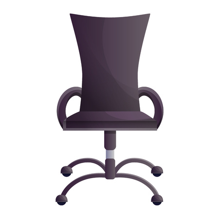 Office chair icon. Cartoon of office chair vector icon for web design isolated on white background Zdjęcie Seryjne - 124966085