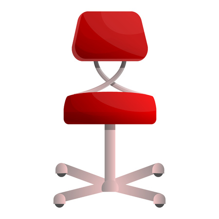 Red chair icon. Cartoon of red chair vector icon for web design isolated on white background