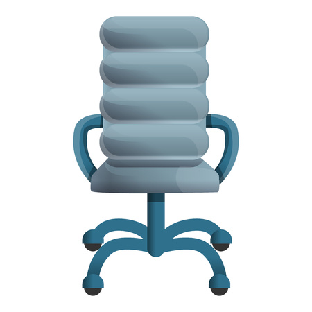 Leather grey chair icon. Cartoon of leather grey chair vector icon for web design isolated on white background Zdjęcie Seryjne - 124966089