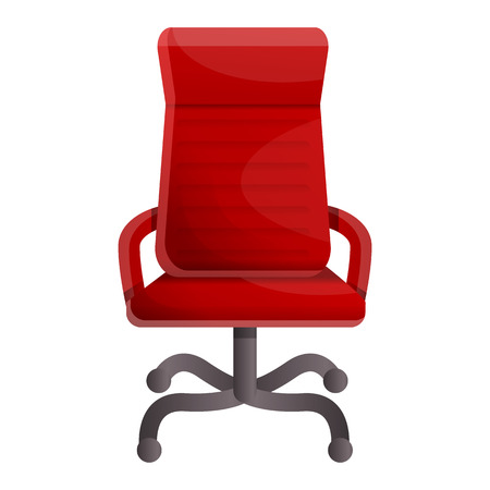 Red luxury chair icon. Cartoon of red luxury chair vector icon for web design isolated on white background Çizim