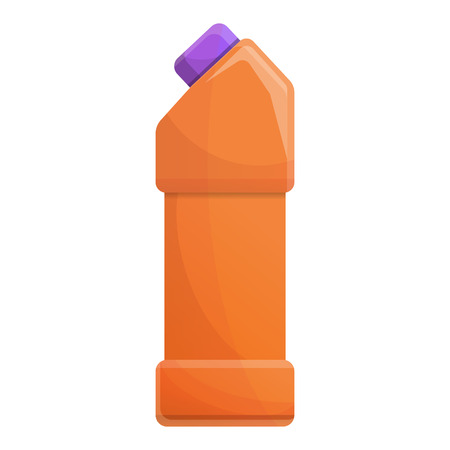 Cleaner bottle icon. Cartoon of cleaner bottle vector icon for web design isolated on white background Zdjęcie Seryjne - 124966092