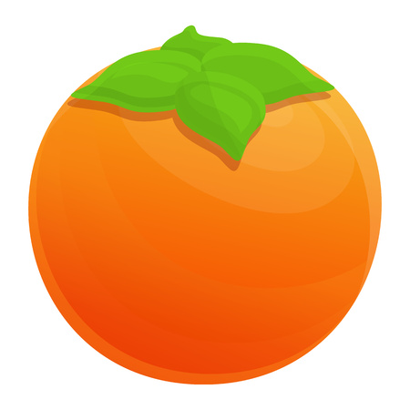 Persimmon icon. Cartoon of persimmon vector icon for web design isolated on white background 일러스트