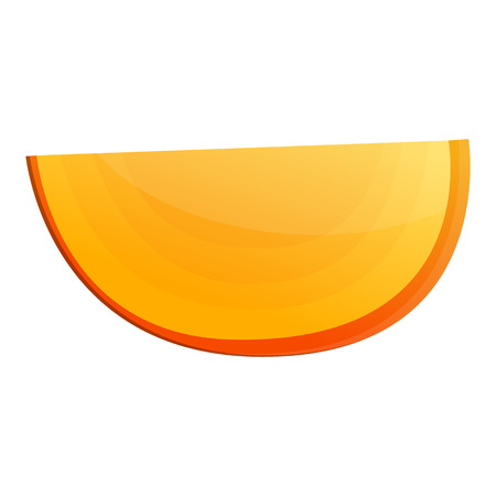 Piece of persimmon icon. Cartoon of piece of persimmon vector icon for web design isolated on white background Ilustração