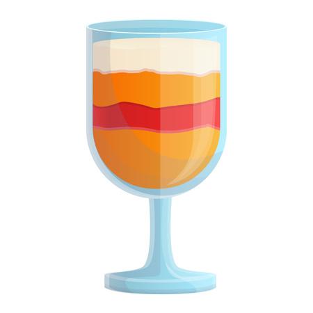 Smoothie persimmon icon. Cartoon of smoothie persimmon vector icon for web design isolated on white background Illusztráció