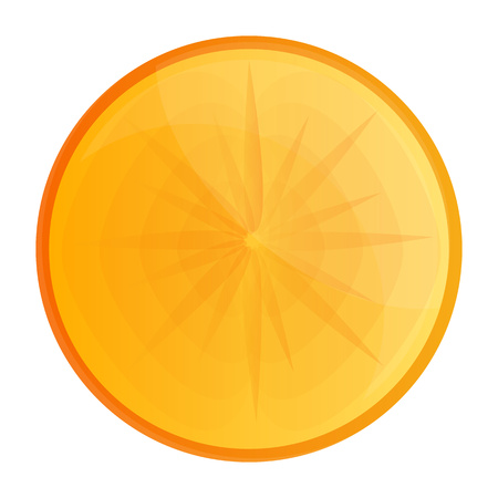 Fresh vitamin persimmon icon. Cartoon of fresh vitamin persimmon vector icon for web design isolated on white background