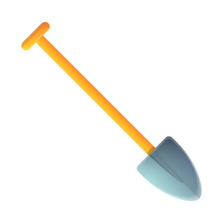 Dig shovel icon. Cartoon of dig shovel vector icon for web design isolated on white background