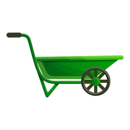 Garden wheelbarrow icon. Cartoon of garden wheelbarrow vector icon for web design isolated on white background Ilustração